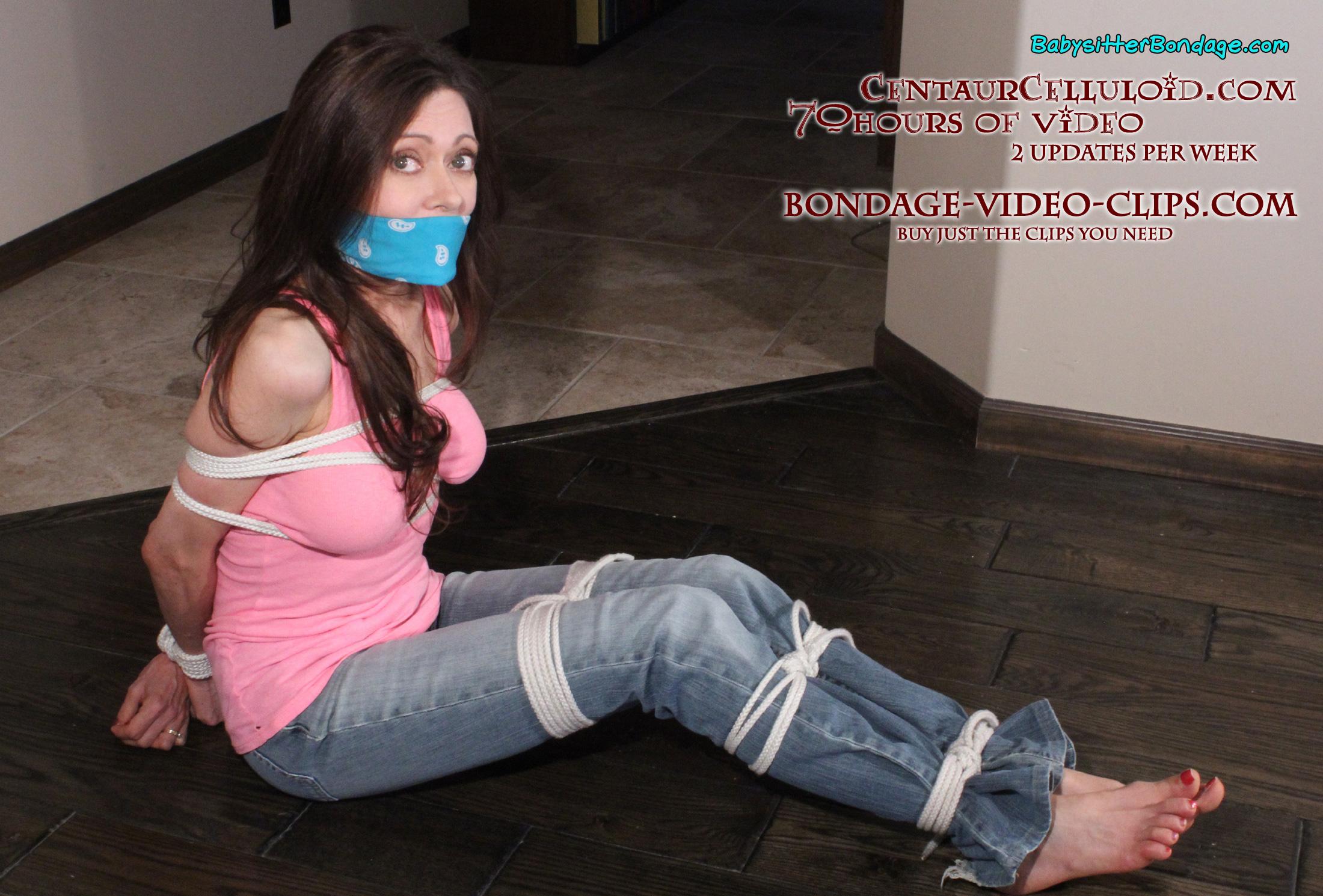 image Teen babysitter loves bondage gets her lil pussy off hard